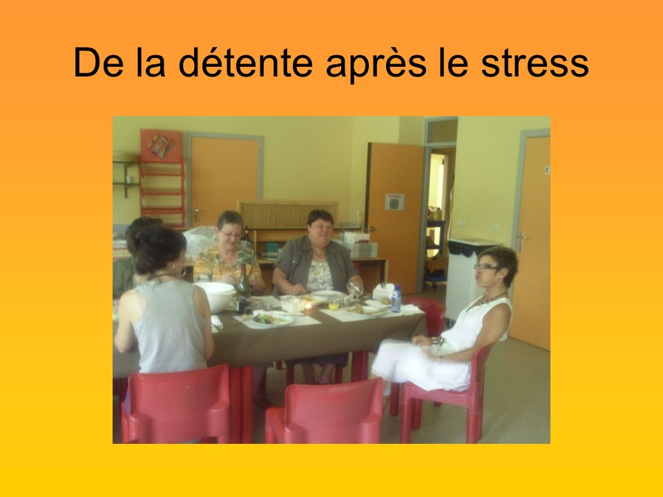 De la détente après le stress
