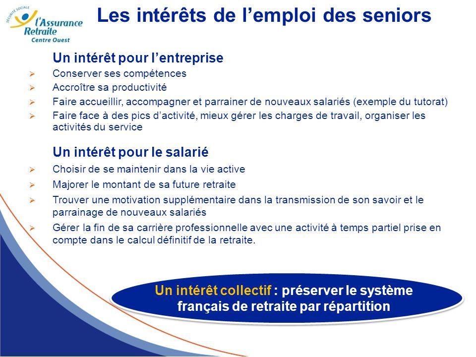 Les intérêts de l'emploi des seniors