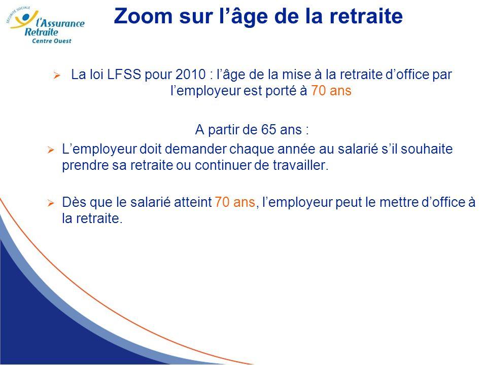 Zoom sur l'âge de la retraite