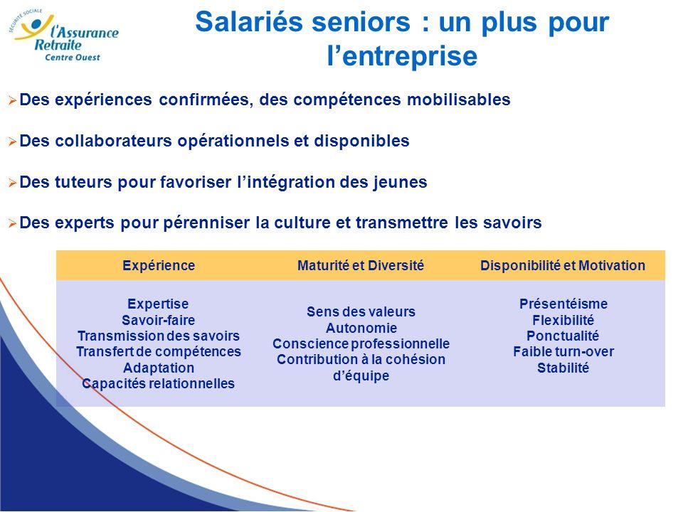 Salariés seniors : un plus pour l'entreprise