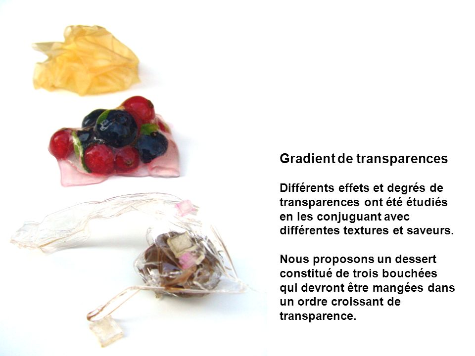 Gradient de transparences