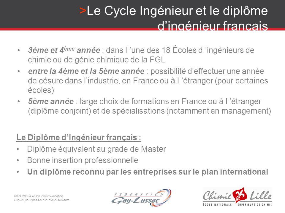 Le Cycle Ingénieur et le diplôme d'ingénieur français