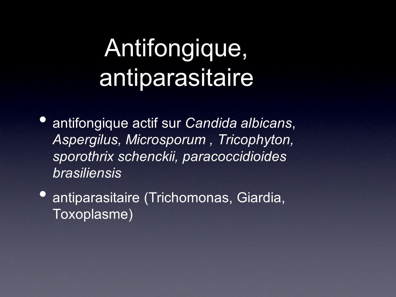 Antifongique, antiparasitaire