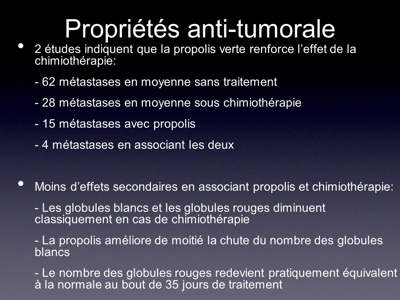 Propriétés anti-tumorale