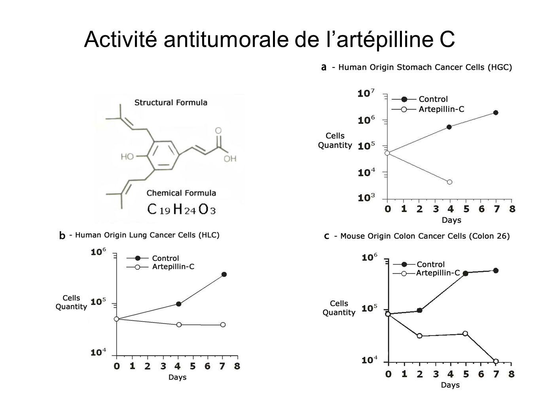 Activité antitumorale de l'artépilline C