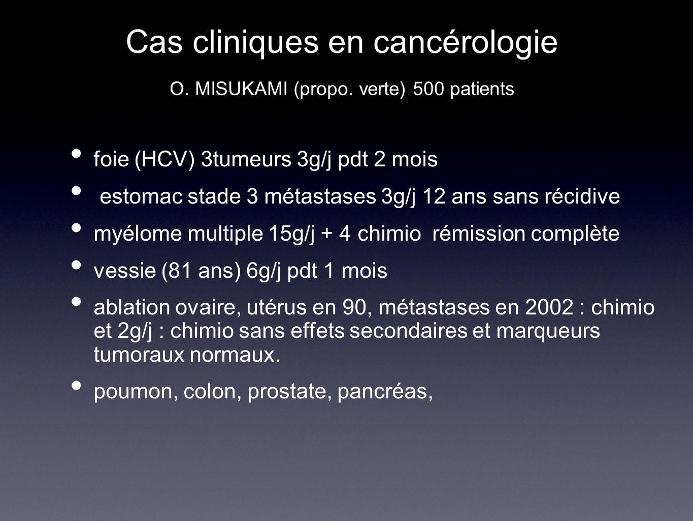 Cas cliniques en cancérologie O. MISUKAMI (propo. verte) 500 patients
