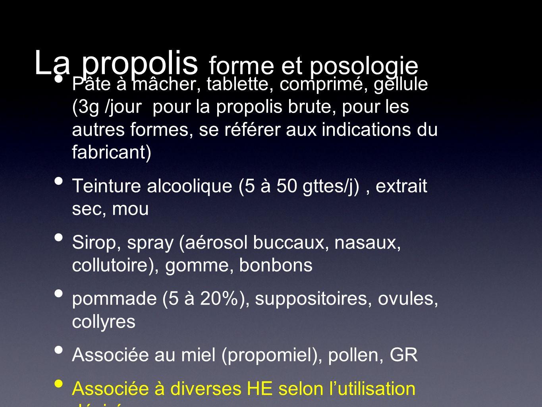 La propolis forme et posologie