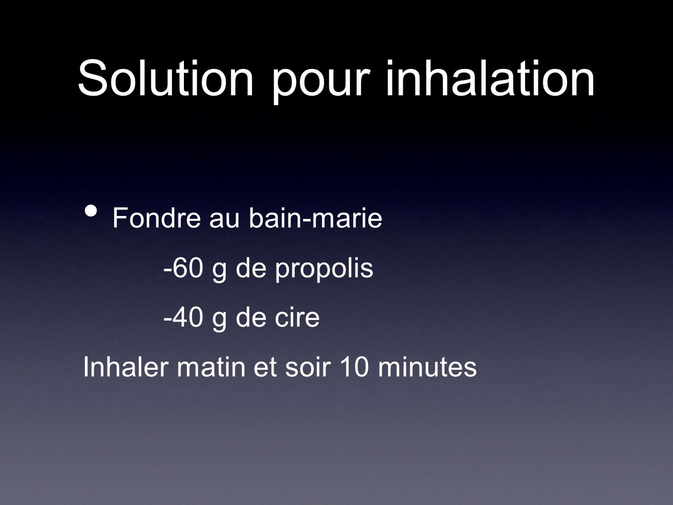 Solution pour inhalation