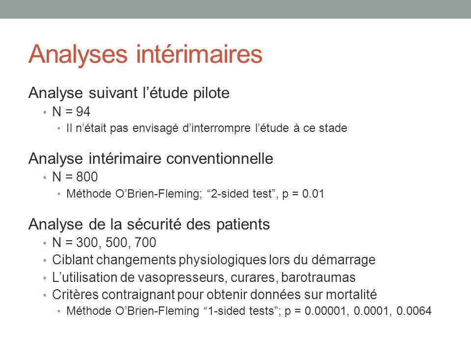 Analyses intérimaires