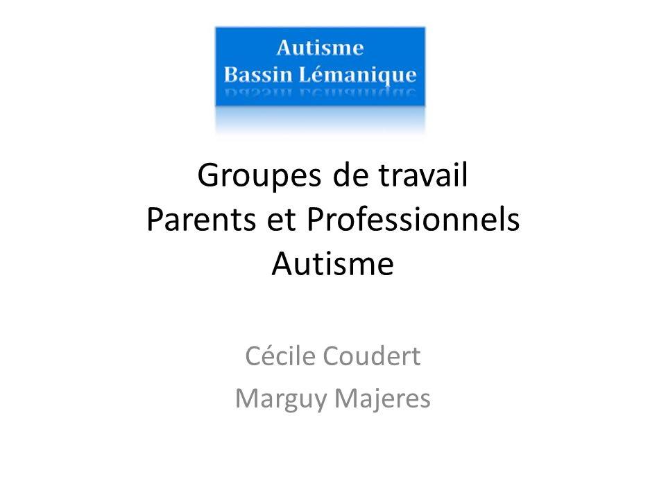 Groupes de travail Parents et Professionnels Autisme