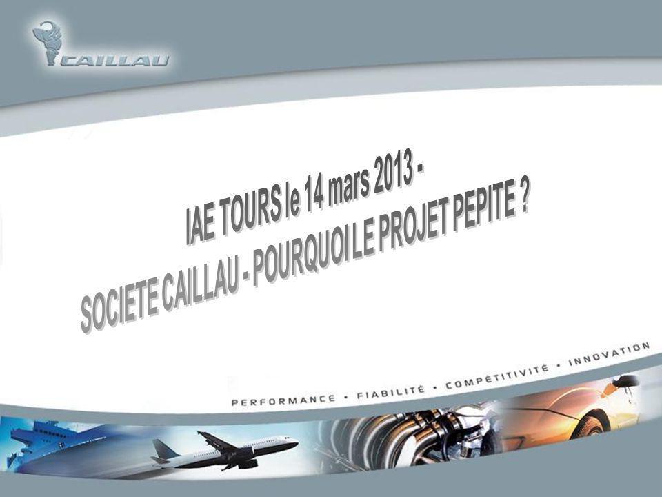 SOCIETE CAILLAU - POURQUOI LE PROJET PEPITE