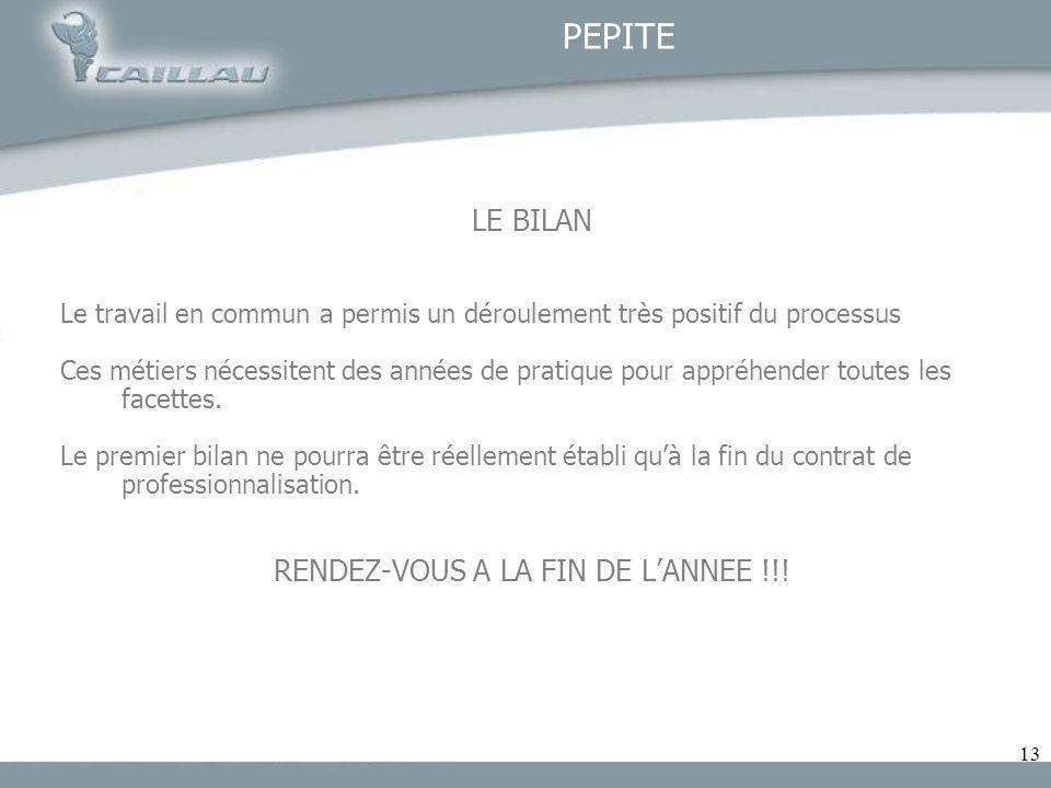 RENDEZ-VOUS A LA FIN DE L'ANNEE !!!