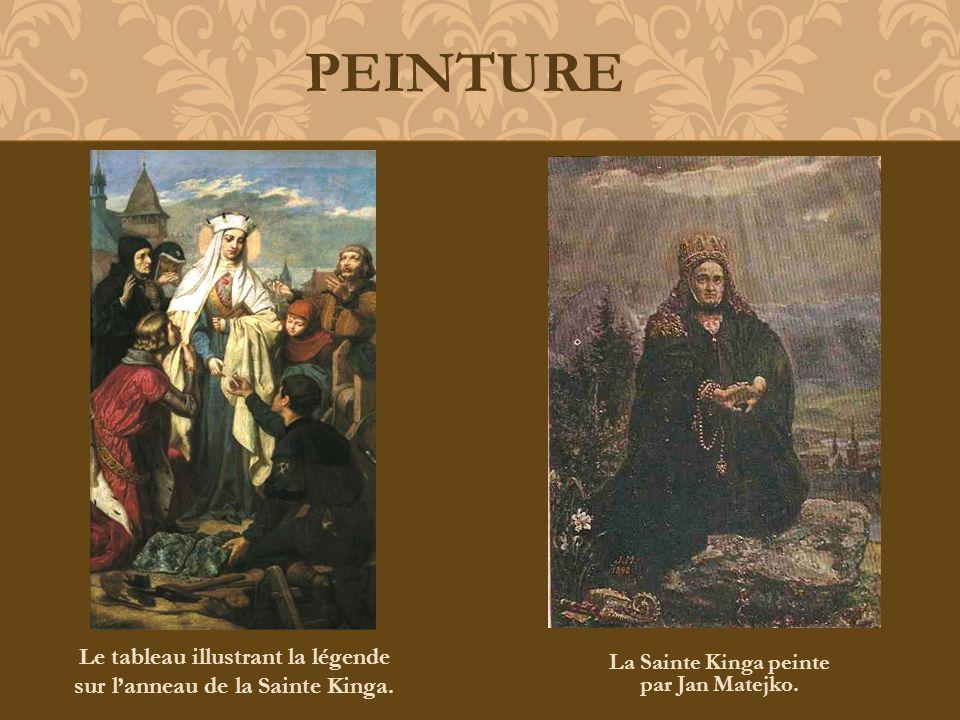 PEINTURE Le tableau illustrant la légende sur l'anneau de la Sainte Kinga.