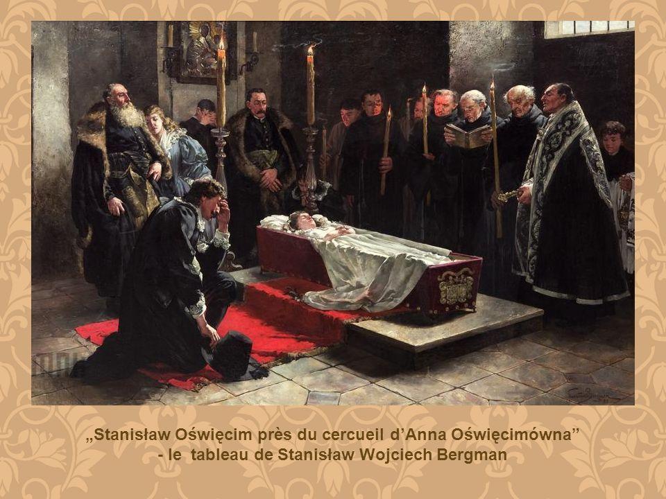 """""""Stanisław Oświęcim près du cercueil d'Anna Oświęcimówna"""