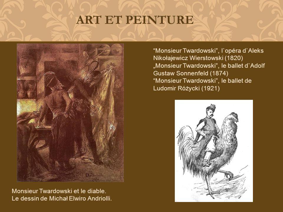 ART ET PEINTURE Monsieur Twardowski , l`opéra d`Aleks Nikołajewicz Wierstowski (1820)