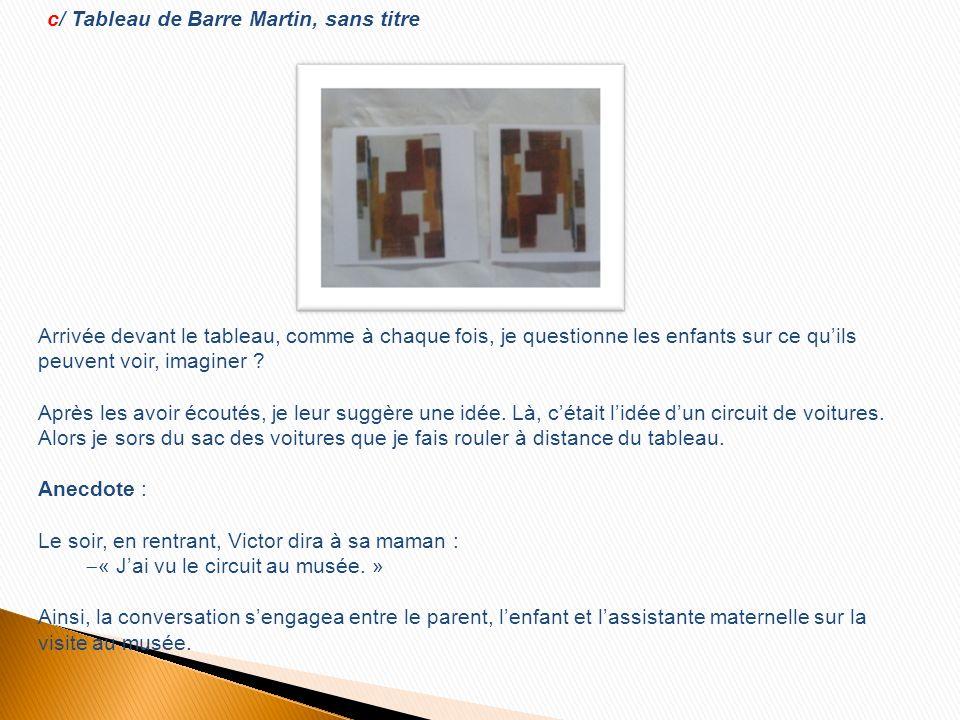 c/ Tableau de Barre Martin, sans titre