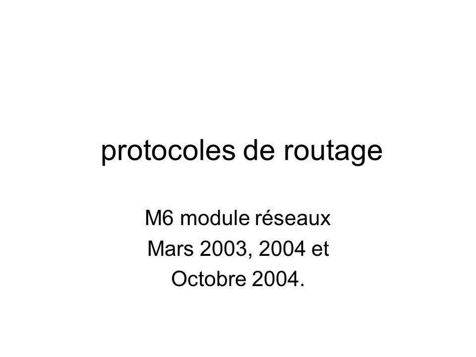 M6 module réseaux Mars 2003, 2004 et Octobre 2004.