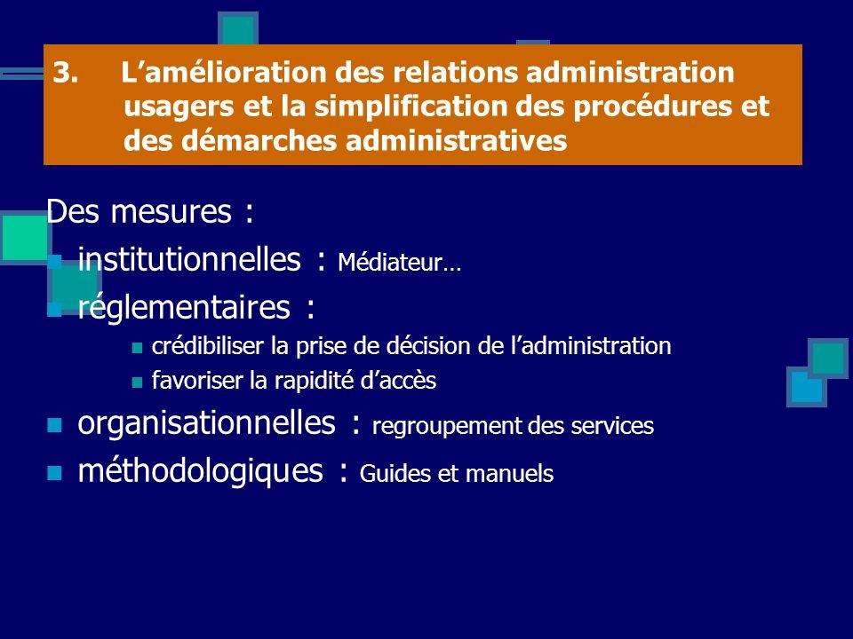 institutionnelles : Médiateur… réglementaires :