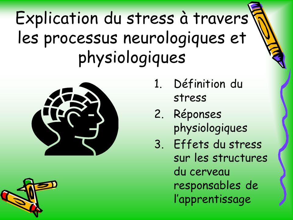 Explication du stress à travers les processus neurologiques et physiologiques