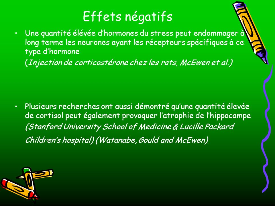Effets négatifs
