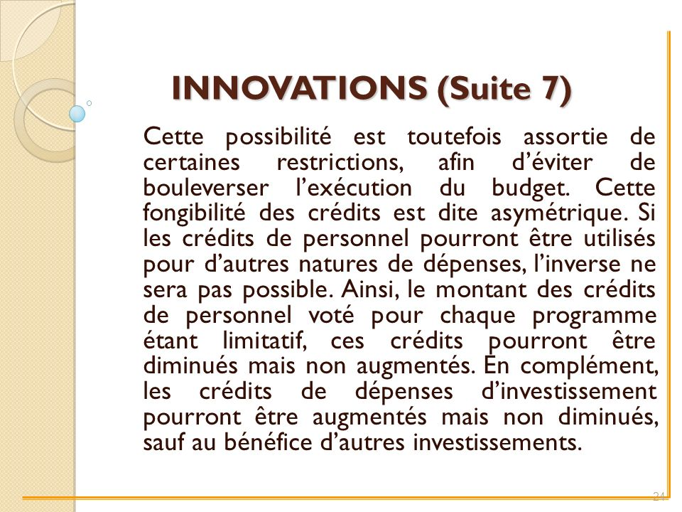 INNOVATIONS (Suite 7)