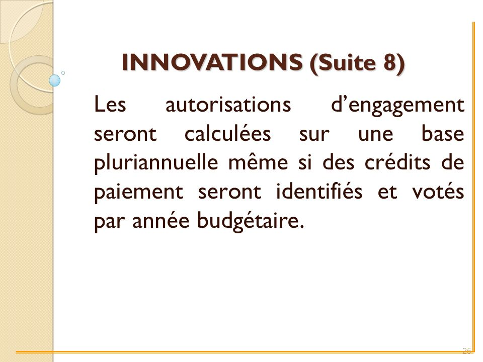 INNOVATIONS (Suite 8)