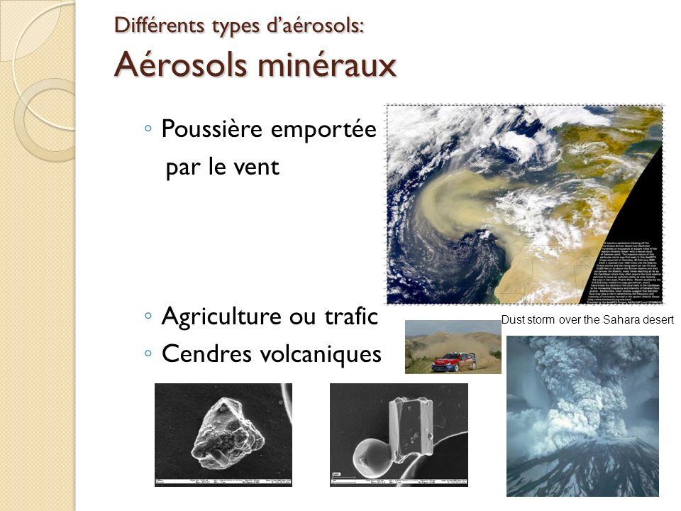 Différents types d'aérosols: Aérosols minéraux