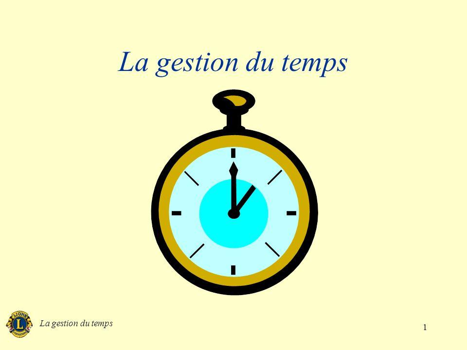 La gestion du temps La gestion du temps