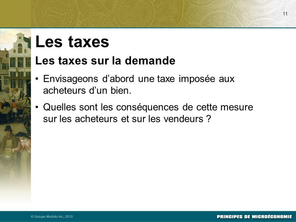 Les taxes Les taxes sur la demande