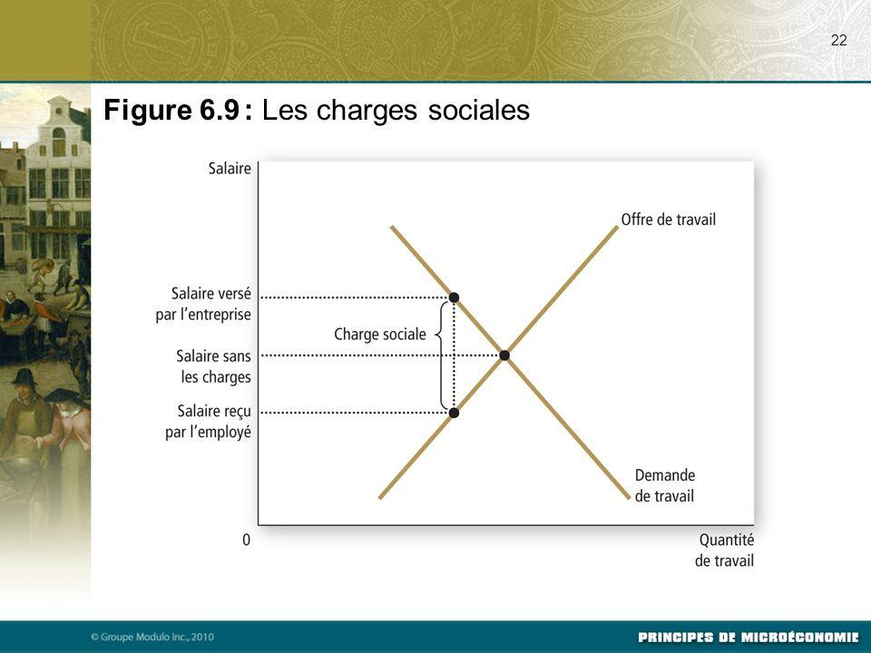 Figure 6.9 : Les charges sociales