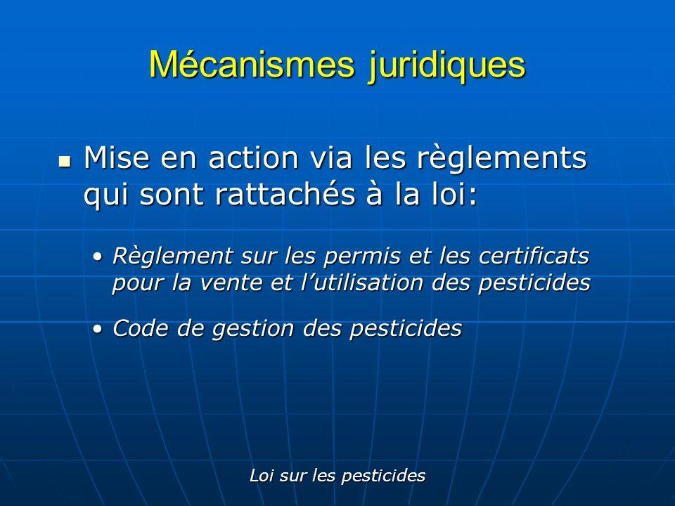 Mécanismes juridiques