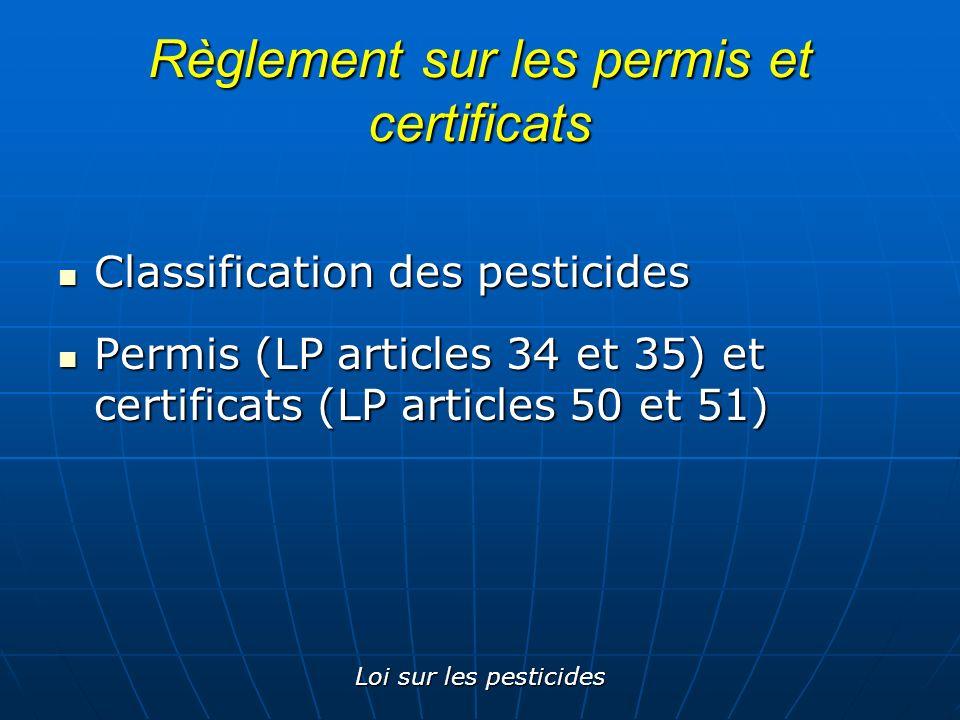 Règlement sur les permis et certificats