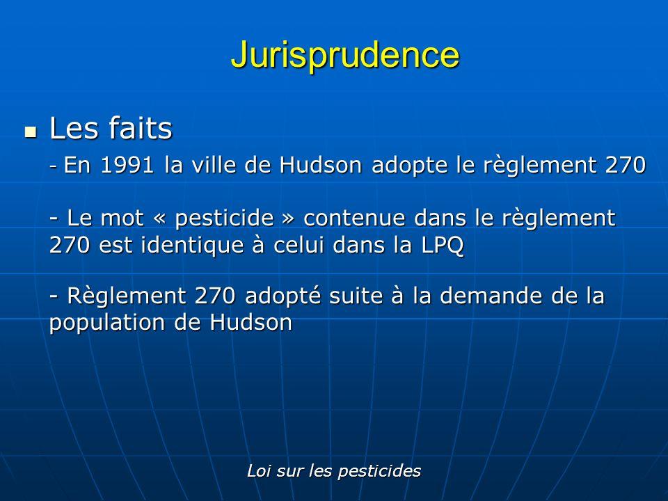 Jurisprudence Les faits
