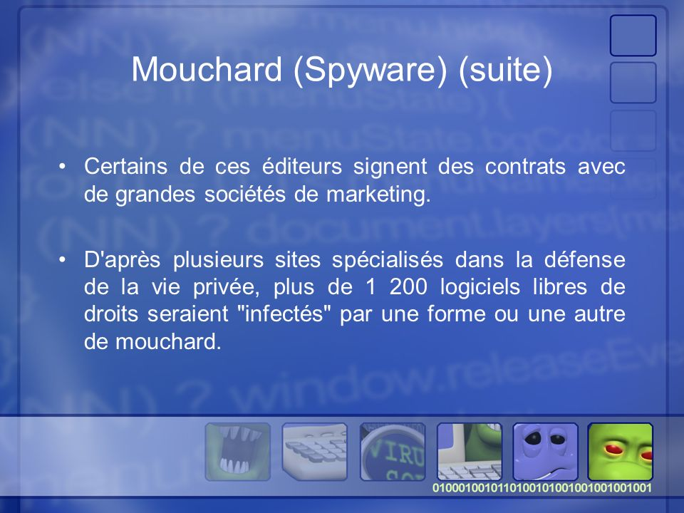 Mouchard (Spyware) (suite)