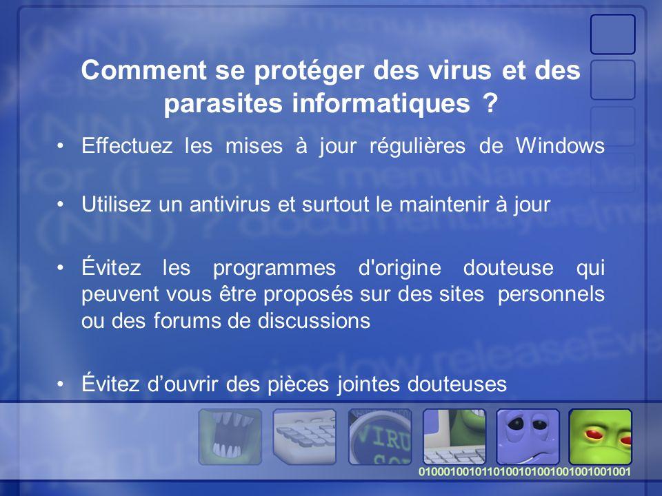 Comment se protéger des virus et des parasites informatiques