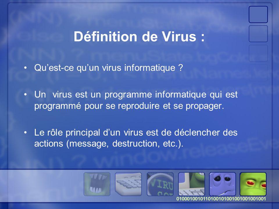 Définition de Virus : Qu'est-ce qu'un virus informatique