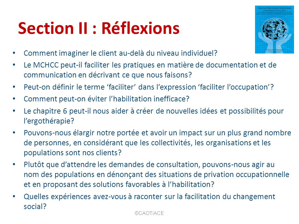Section II : Réflexions