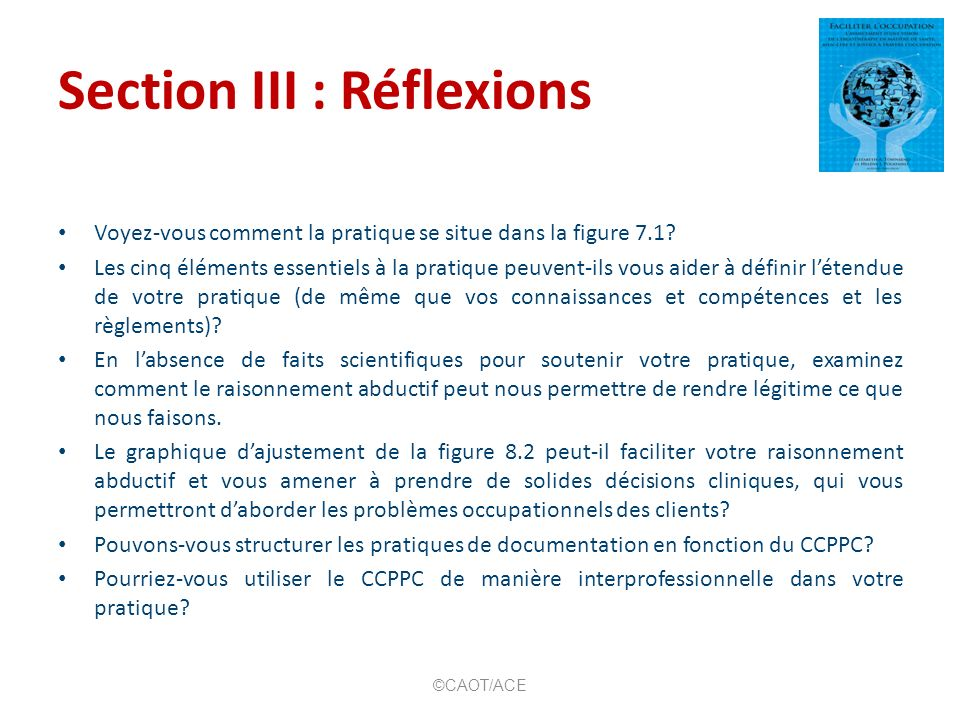 Section III : Réflexions
