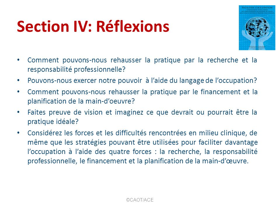 Section IV: Réflexions
