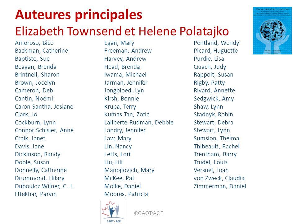 Auteures principales Elizabeth Townsend et Helene Polatajko