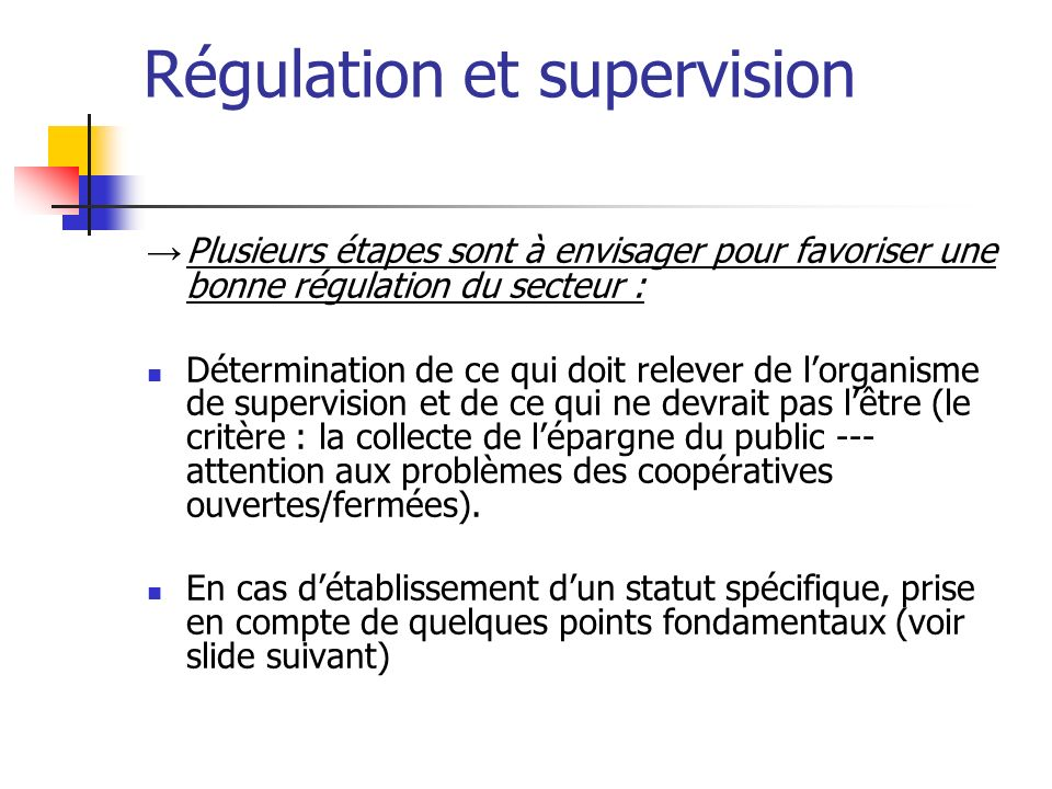 Régulation et supervision