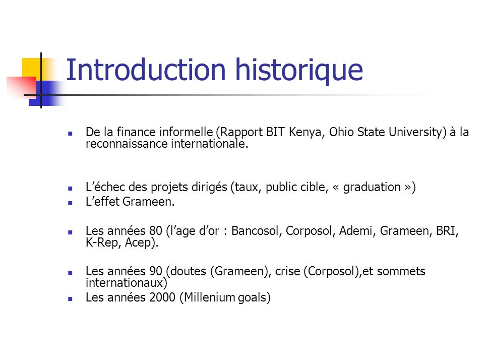 Introduction historique