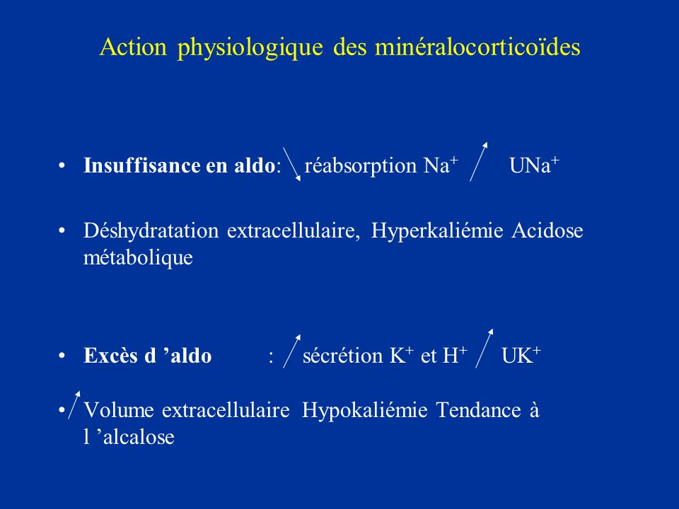 Action physiologique des minéralocorticoïdes