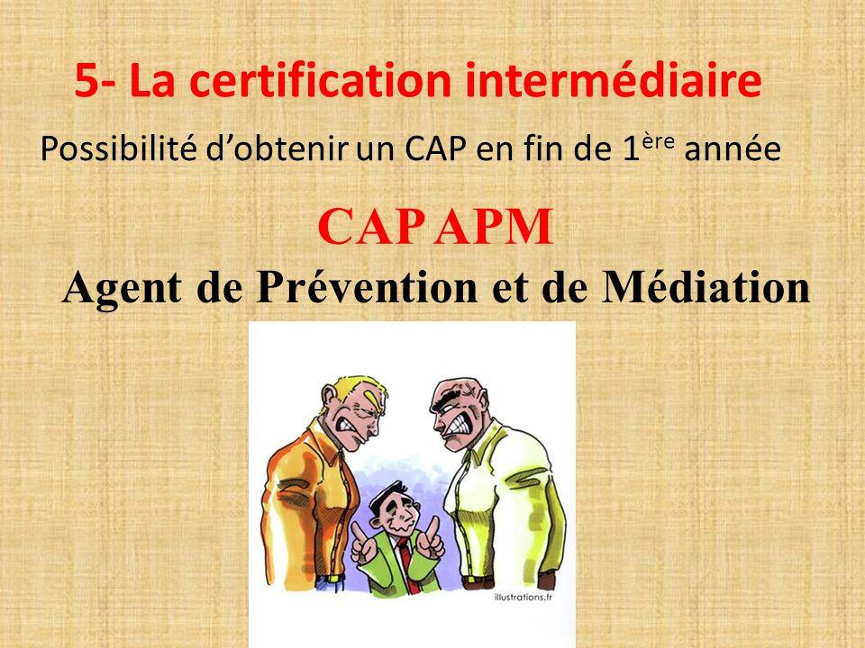 5- La certification intermédiaire