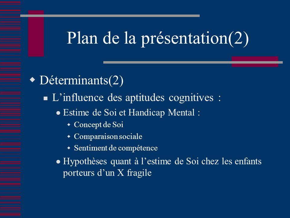 Plan de la présentation(2)
