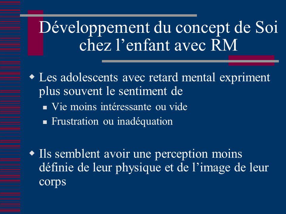 Développement du concept de Soi chez l'enfant avec RM