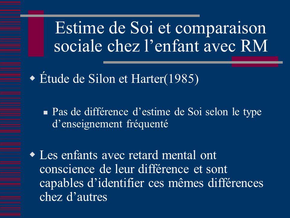 Estime de Soi et comparaison sociale chez l'enfant avec RM