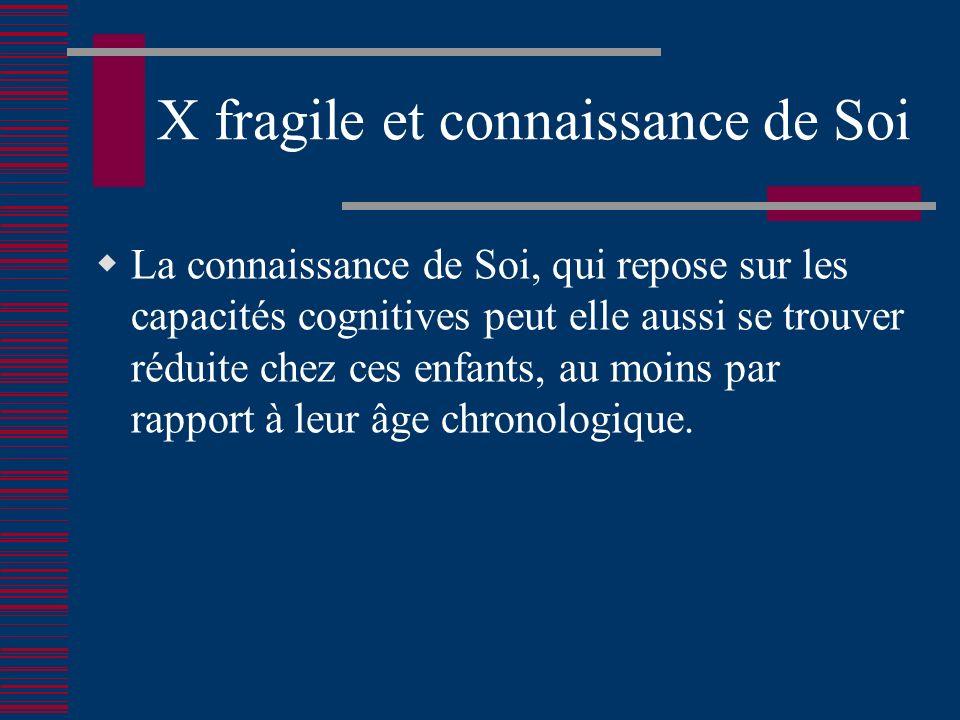 X fragile et connaissance de Soi