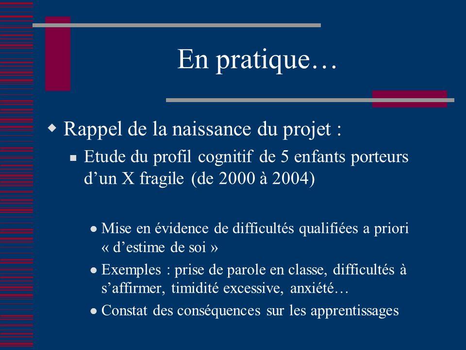 En pratique… Rappel de la naissance du projet :