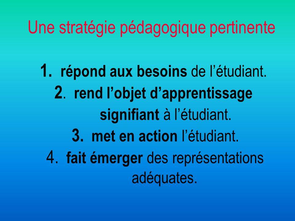 Une stratégie pédagogique pertinente 1